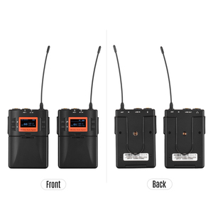 Image 4 - אלחוטי Lavalier מיקרופון מערכת UHF 60 ערוצים אחד משדר אחד מקלט עבור DSLR מצלמה Smartphone מחשב Tablet הקלטה