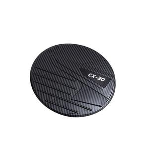 Image 3 - For 2020 Mazda CX 30 CX30 ABS Carbon Fiber Gasoline Tank Cap Fuel Tank Cover Protective Sticker Sticker Car Styling Accessories