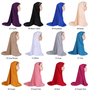 Image 2 - Plain Scarf Women Muslim One Piece Amira Hijab Islamic Hijabs Head Cover Wrap Shawl Turban Niqab Soft Headscarf Arab Khimar New
