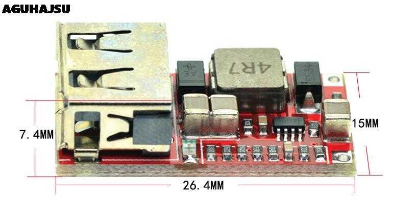 1 قطعة Fine 6-24 فولت 12 فولت/24 فولت إلى 5 فولت 3A سيارة USB وحدة شاحن تيار مستمر باك محوّل خفض الجهد الكهربائي 12 فولت 5 فولت وحدة امدادات الطاقة