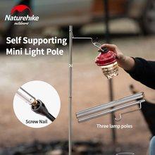 Naturehike lámpara plegable poste y clavo de tierra, poste de luz de Camping de pie libre percha de farolillo de aleación de aluminio ultraligero