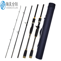 4 Section Lure Rod 1.8m/2.1m/2.4m/2.7m/3.0m Carbon Spinning Fishing Rod Travel Rod M Power Casting Fishing Pole Vava De Pesca