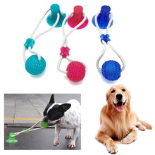 Pet Toys with Suction Cup Dog Ball  TPR Chew Tug Toy Interactive Teeth Cleaning for Small Medium Large Dogs