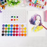 Профессиональный однотонный пигментный набор, 24/36 цветов, с кисточкой для краски