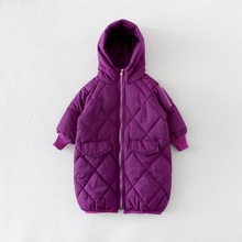 Baby Girls Cotton Padded Coat Thick Warm Parka Kids Jackets And Coats Winter Children's Hooded Long Jacket Baby Cotton Outerwear cysincos autumn girls fur coat winter jackets girls hooded baby jacket thick baby jacket warm cute jacket teddy bear coats