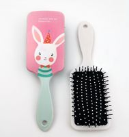 Women Hair Comb Paddle Hair Brush/Bird Hamster Pattern for Girls Hair Styling Antistatic for Straight Curly Hair Anti-Tangle 2