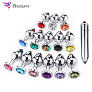 Runyu Smooth Anal Toys Metal Butt Plug Masturbator for Man Anal Vibrators Anal Plug Private Goods for Men Adult Toys Sex Shop(China)