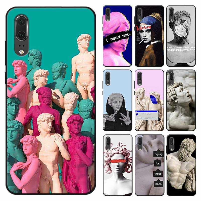 Alternative statue art Phone Case for huawei mate 30 pro p20 p30 pro  mate 20 pro  mate 20 lite Soft silicone Cover