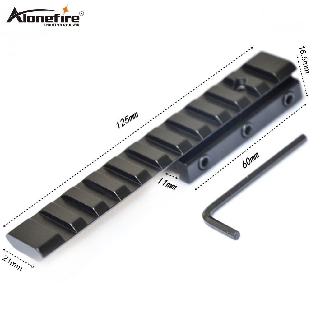 Alonefire D2006-A 11 zu 21 mm Verlängern Schiene Schwalbenschwanz Basis Weaver Picatinny Adapter Airsoft Rifle Shot gun Laser Anblick Umfang halterungen