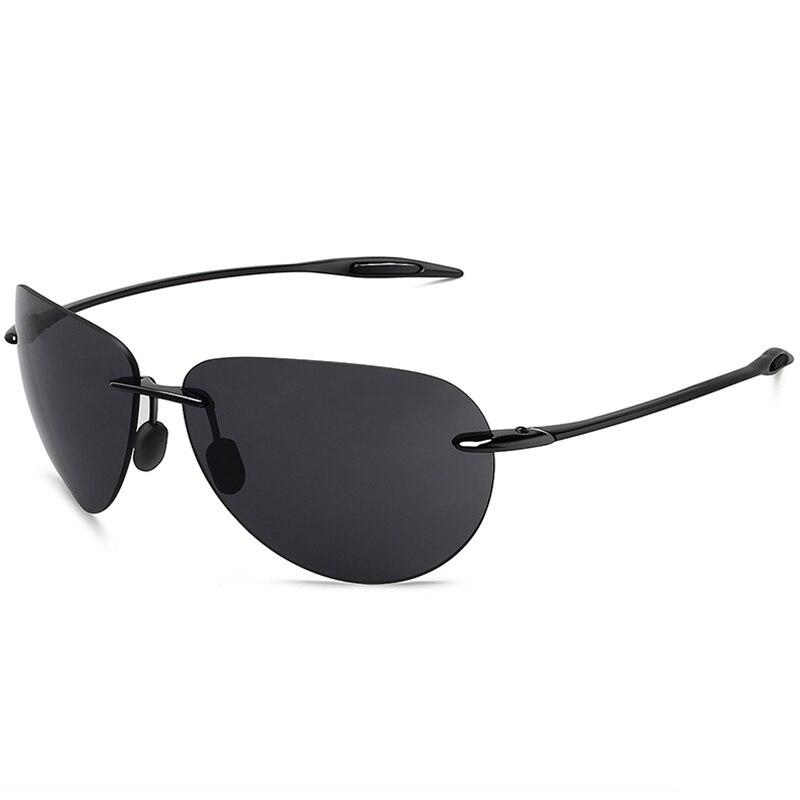 JULI Classic Sports Sunglasses Men Women Male Driving Golf Pilot Rimless Ultralight Frame Sun Glasses UV400 Gafas De Sol MJ8008-in Men's Sunglasses from Apparel Accessories