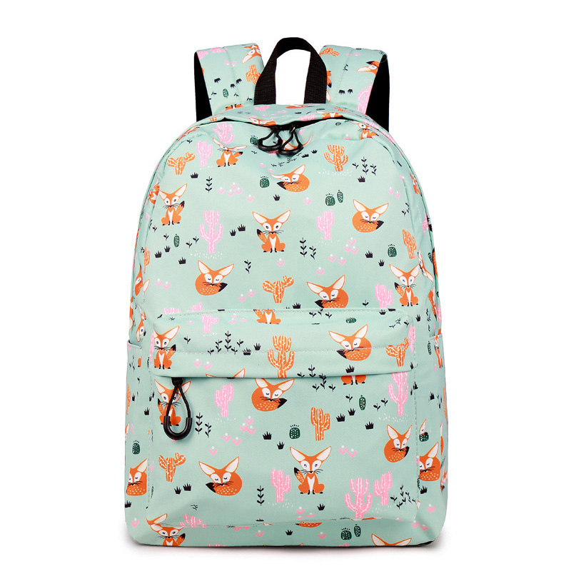 CIKER Fox Pattern Printing Backpack Female Travel Daily Laptop Student School Backpack Water  Repellent For Teenagers Mochila