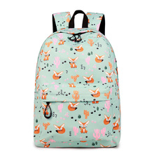 CIKER Fox Pattern Printing Backpack Female Travel Daily Laptop Student School Water  Repellent For Teenagers Mochila