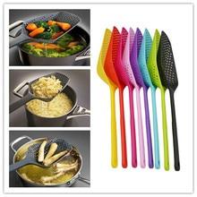 Utensilios de Cocina coladores de drenaje antiadherentes coladores de pala verduras con fugas de agua accesorios de Cocina herramientas de Cocina