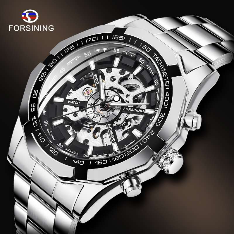 Permalink to Watch for Men Skeleton Automatic Mechanical Watch Silver Skeleton Vintage Man Watch Mens FORSINING Watches Top Brand Luxury