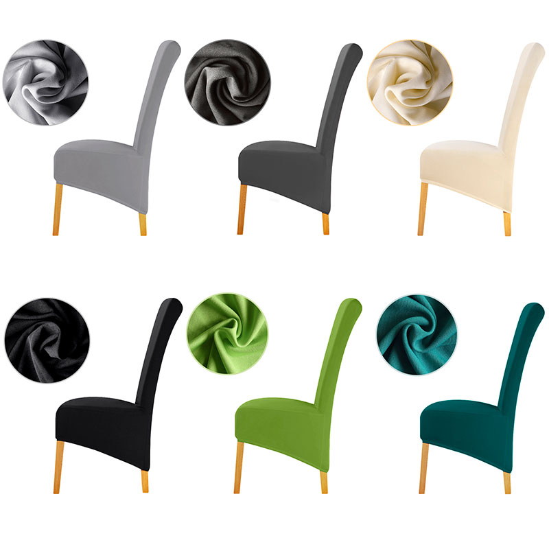 XL Size Cheap Chair Cover Big Size Long Back Europe Style Seat Chair Covers Universal Restaurant Hotel Party Home Banquet