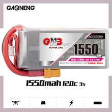 Gaoneng gnb 3s 1550mah 11.1v 120c lipo bateria com xt60 plug para rc fpv corrida zangão quadcopter helicóptero rc peças vs tattu