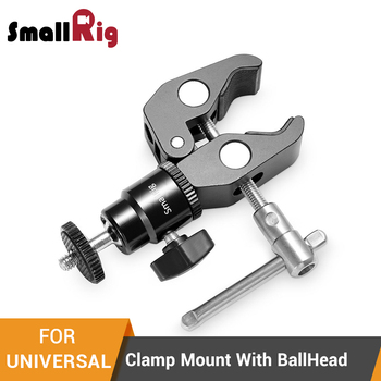 Mocowanie zaciskowe SmallRig z 1 4 #8222 śruba kulkowa mocowanie głowicy adapter gorącej stopki i Cool Clamp-1124 tanie i dobre opinie Aluminium For Universal High quality With Package Clamp Mount