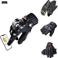 WOSAWE Touch Screen Sports Motorcycle Gloves Men PU Leather Windproof Wearable Non-slip Off Road MTB Motocross