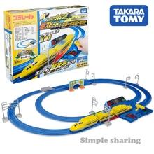 Takara Tomy Plarail Super Speed Doctor Yellow Set Dash With Plastic Rail Lever Railway Train Motorized Locomotive Model Toy