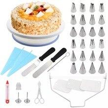 Nozzle Decorating-Supplies-Kit Pastry-Tips Baking-Tools-Set Turntable Setcake 39pcs Couplers-Cream