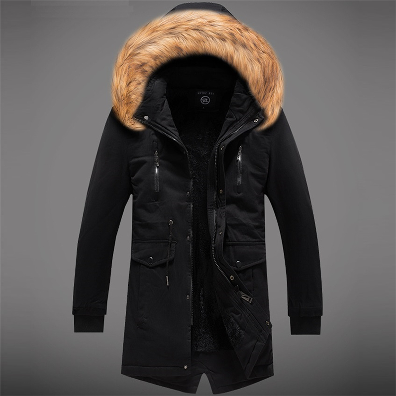 Long Parkas Winter Jacket Men 2018 New Warm Windproof Casual Outerwear Padded Cotton Coat Big Pockets High Quality Parkas Men