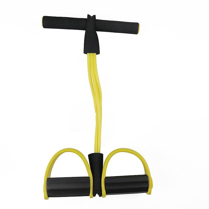 Фитнес-резинка, 4 трубки, Эспандеры, латексный Педальный Тренажер, сидячий эспандер, эспандер, эластичные ленты, оборудование для йоги, пилатеса, тренировки-5