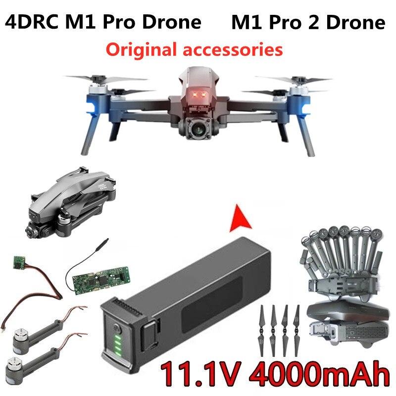 4DRC M1 Pro 2 Drone Original Zubehör 11,1 V 4000mAh Batterie Propeller Ahorn Blatt Ersatzteile Für 4D-M1 Drone m1 Pro Drohnen