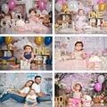 Mehofond Baby Shower фон для фотосъемки с изображением 1st на день рождения вечерние шар белое облако, многоярусная юбка Дети фон для студийной фотосъ...