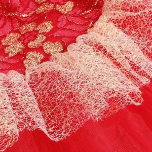 Image 5 - BAOHULU בנות בלט ריקוד טוטו שמלת מזרחי אלמנט בגד גוף ביצועים התעמלות בגד גוף אדום צבע עבור 3 ~ 7 שנים בלרינה