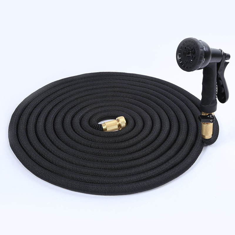 50FT New Style Natural Rubber Household High Pressure Car Washing Gun And Valve Three Times Telescopic Water Gun Manufacturers D