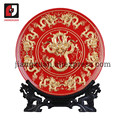 24k gold foil 20 inch oriental porcelain decorative plates good gifts items for a new house