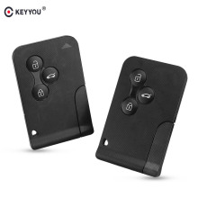 KEYYOU 3 Button Smart Card Remote Key Shell Case For Renault Clio Logan Megane 2 3 Koleos Scenic 2003 2004 2005 2006 2007 2008