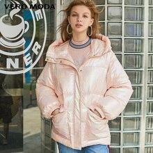 Vero Moda Женское зимнее цветное тканевое пальто с капюшоном и кулиской | 319422501