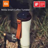 Xiaomi beijo beijo peixe moka inteligente copo de café garrafa de vácuo portátil tela de toque oled garrafa térmica aço inoxidável café kkf copo