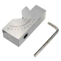 75x25x32mm Precisie Mini Verstelbare Hoek V Blok Frezen 0 Graden Tot 60 Graden|Freesmachine|   -