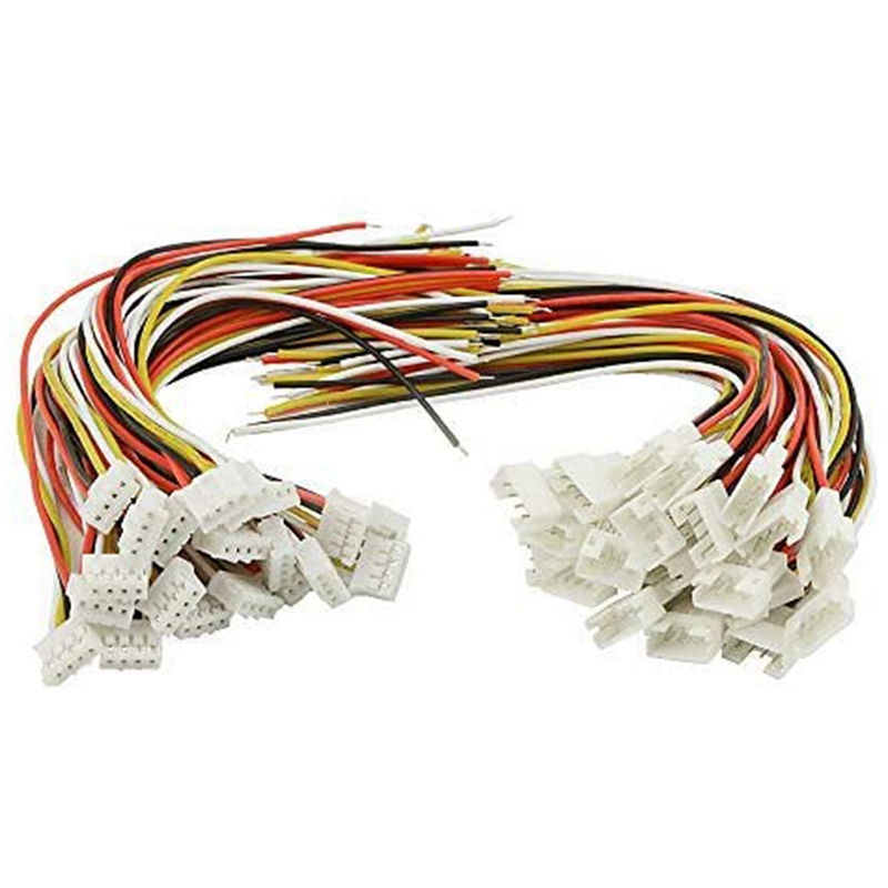 40PCS(20 Pairs) 2.0mm 4 PIN Female Male Connection Plug with 15cm Terminal Connector Wire Cable Compatible for JST PH