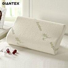High Quality Bamboo Fiber Pillow Slow Rebound Memory Foam Health Care Massager Travesseiro Almohada