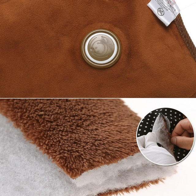 DIDIHOU Hot Water Bottle Electric Rechargeable Heat Water Bag Polka Dot Hand Warmer Velvet Hot-water Bag EU Plug 10 Colors