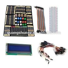 цена на Basic Starter Kit with Switch, Color Led, LCD Module,Breadboard,Resistors,Rotary Potentiometer for UNO R3 Mega2560 Mega3
