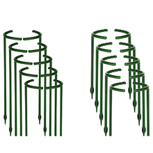 Plant Support Garden Flower Stand Semi-Circular Plant Support Ring Plastic Plant Cage Frame Flower Pot
