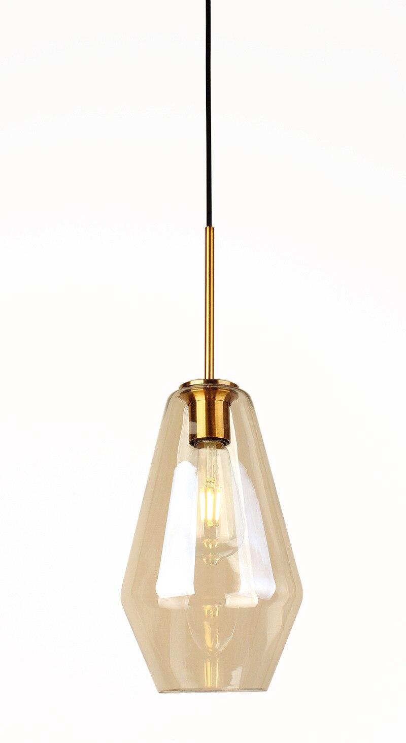 Nordic luz pendente de vidro restaurante bar