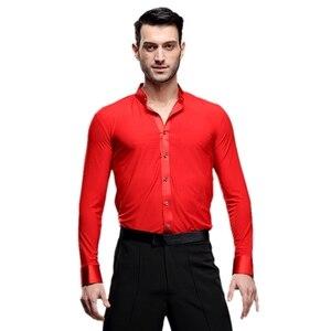 Image 3 - Nowe Fantasia Latin Dance topy mężczyźni joga sala balowa Salsa Tango Samba ubrania taneczne standardowe topy męska profesjonalna odzież do tańca