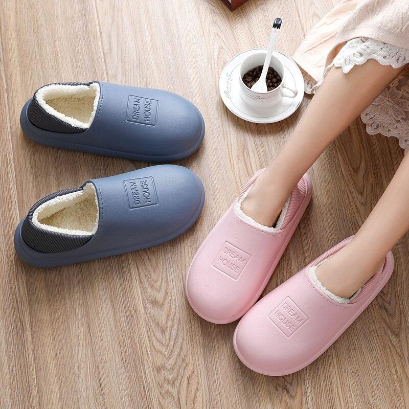 Женские тапочки; Зимние домашние хлопковые тапочки; Домашняя обувь; Шерстяные тапочки; Домашняя обувь на плоской подошве|Тапочки|   | АлиЭкспресс