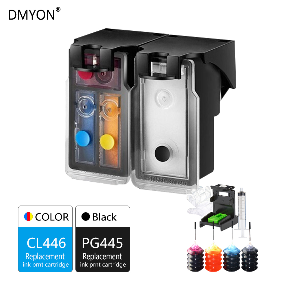 DMYON Refillable Ink Cartridge Replacement for Canon PG445 CL446 XL for PIXMA MX494 MG2944 IP2840 MG2440