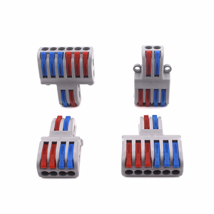 Wire Connector Mini Fast Universal Wiring Electrical Cable Conector LED Lamp Push In Terminal Block PCT-222 SPL-62 SPL-42 Splic(China)