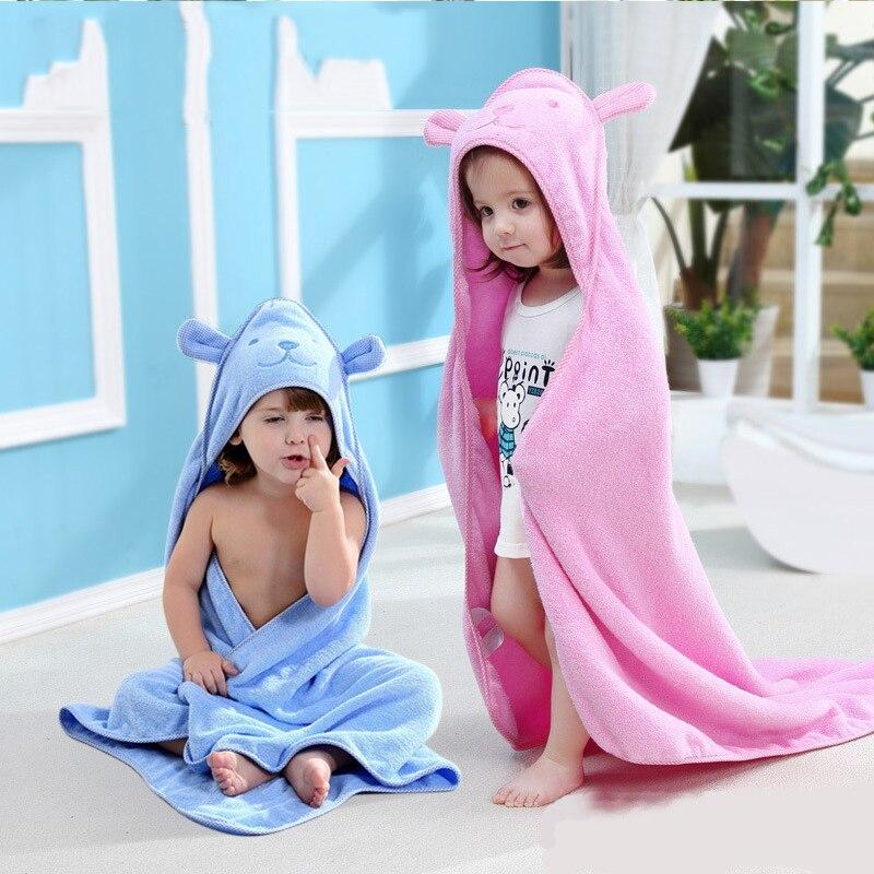 Baby Towel Newborn Bath Kid Hooded Towel Bathrobe Cute Animal Toddler Kids Baby Bath Towels Infant Blanket Children Towels