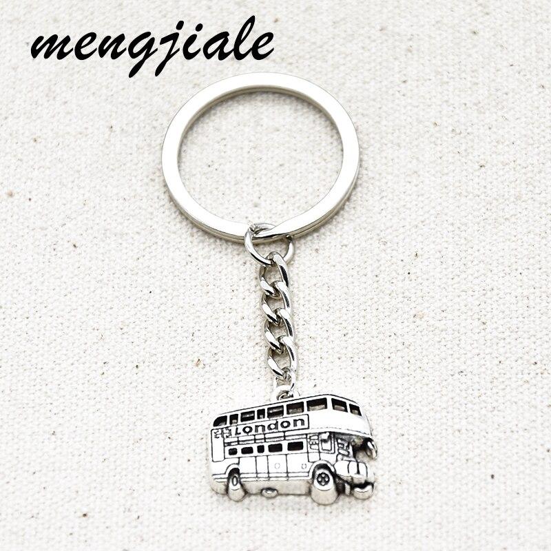 1 pièces nouvelle mode porte-clés londres Bus pendentifs pour bricolage à la main bijoux porte-clés cadeau artisanat