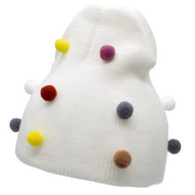 Infant Baby Boys Girls Pure Color Hairball Winter Warm Knitted Wool Hat Toddler Kids Children Cute Fashion Casual Cap Snowwear(China)