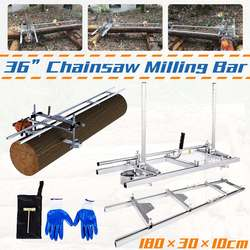 36 Planking Milling Bar Portable Adjustable Chain Saw Chainsaw Mill With 1.8m Guide Set Cutting Tool