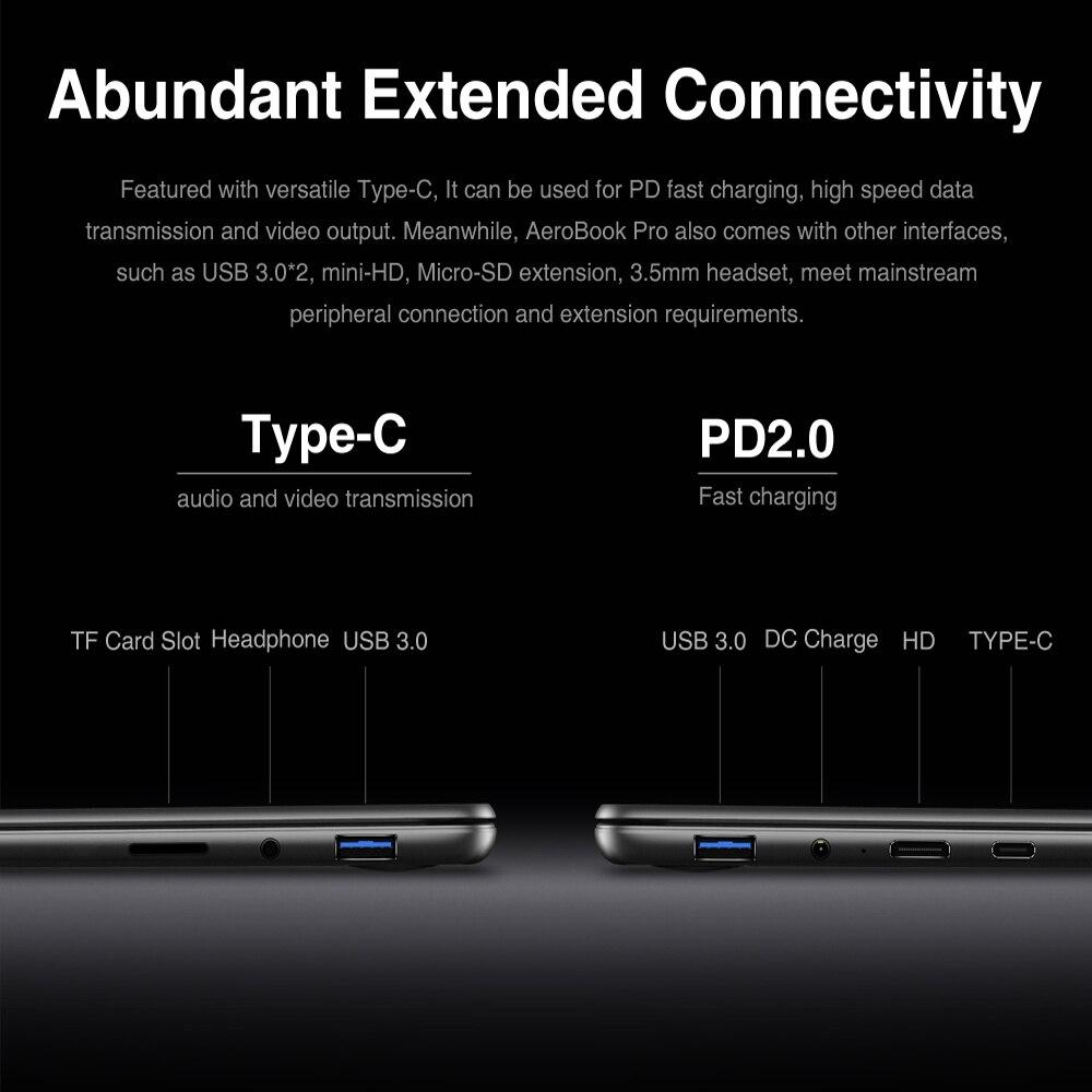 CHUWI Original AeroBook Pro 13.3 inch Laptop Intel Core m3-8100Y Dual core 8GB RAM 256GB SSD with Backlit Keyboard Metal Cover